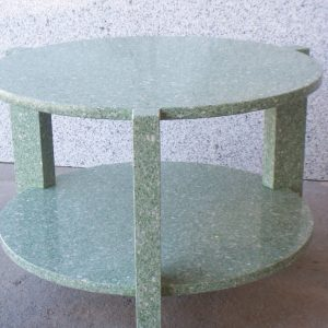 Mesa circular Silestone verde