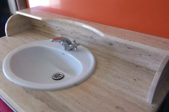 Mueble baño Travertino Romano
