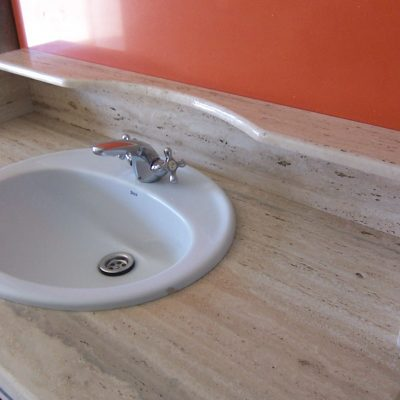 Mueble baño Travertino Romano